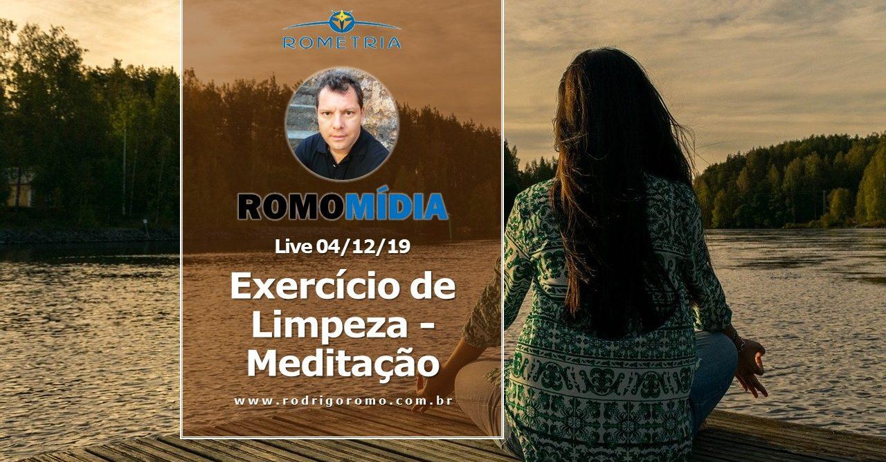 LIVE 04/12/19 – EXERCÍCIO DE LIMPEZA / MEDITAÇÃO