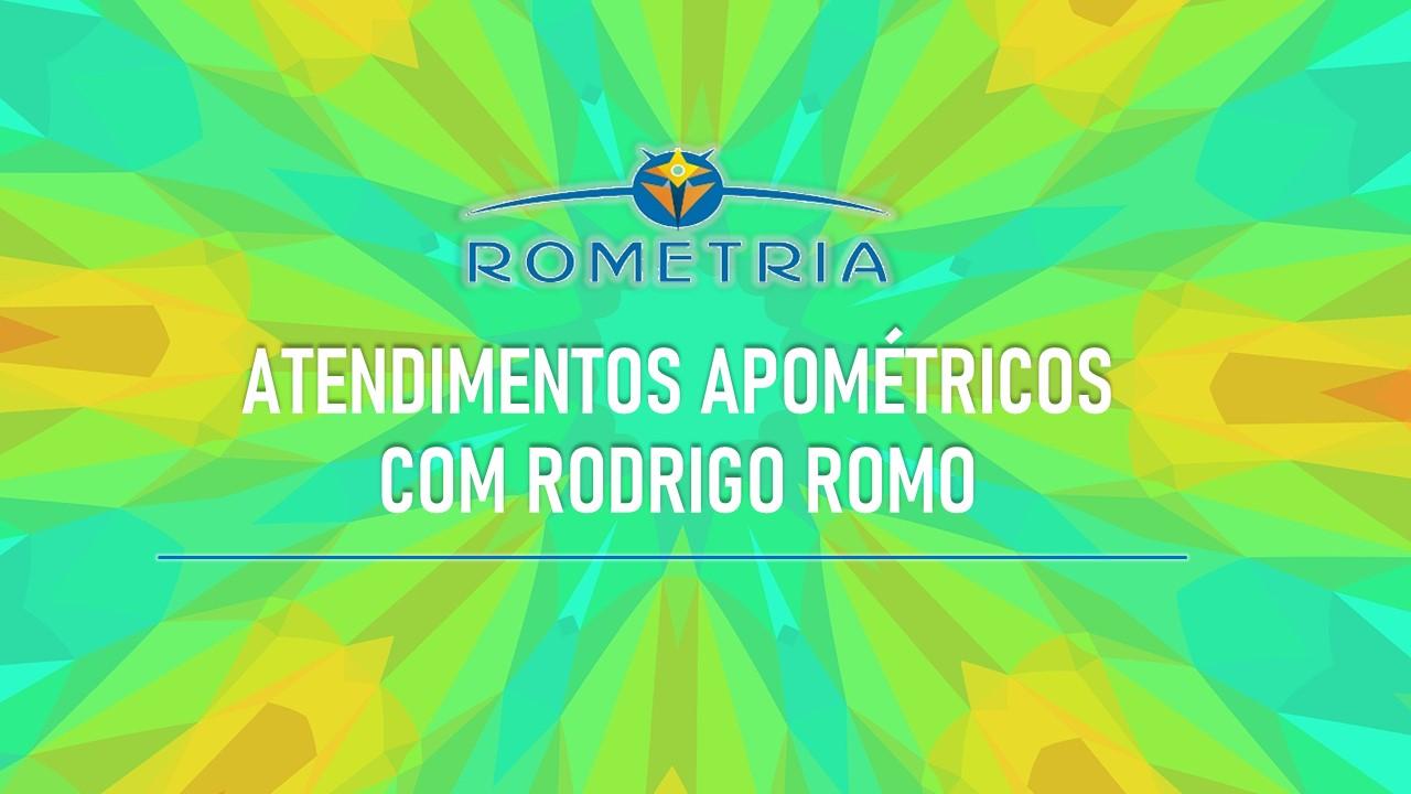 ATENDIMENTOS A DISTÂNCIA COM RODRIGO ROMO